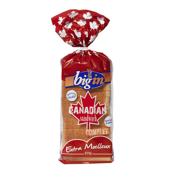 Brioche Big'in - Pain de Mie Canadian Complet