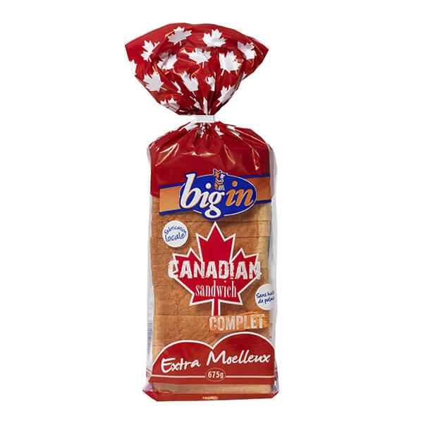 Brioche Big'in - Pain de Mie Canadian Complet